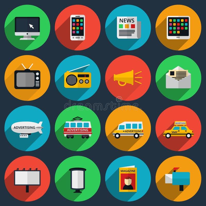 媒介和信息频道象与长期 向量例证