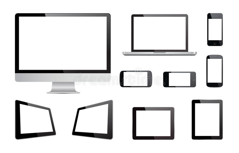 媒介设备技术传染媒介 库存例证