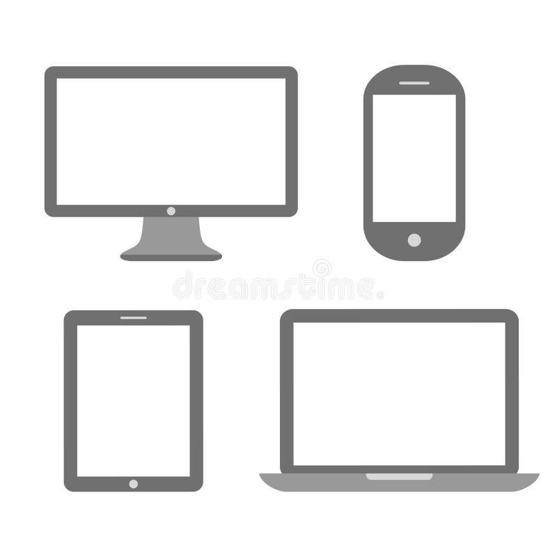 媒介设备象 库存例证