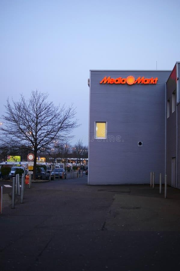 媒介Marktet在晚上 库存照片
