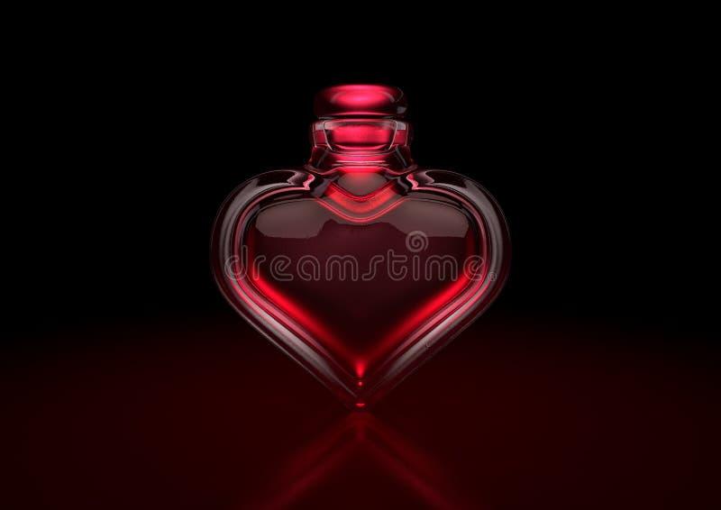 媚药心脏瓶 向量例证