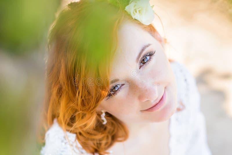 嫩新娘-软的焦点特写镜头画象  库存照片