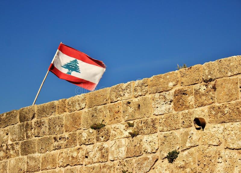 黎巴嫩旗子 库存图片