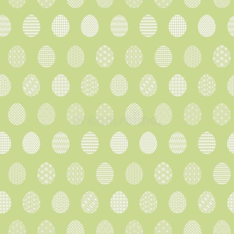 嫩浅绿色的样式用复活节彩蛋 皇族释放例证