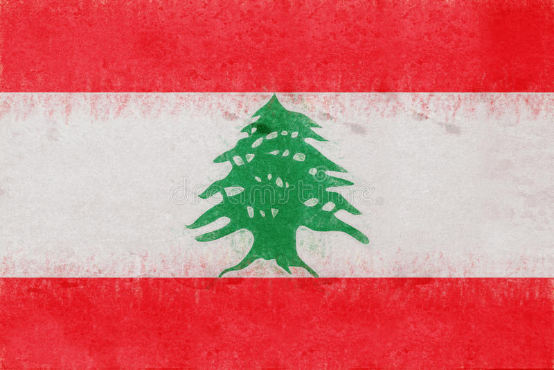 黎巴嫩难看的东西旗子  向量例证