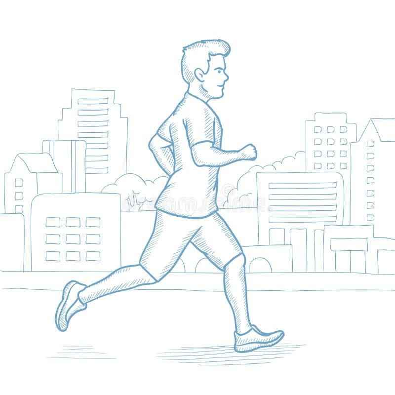 嬉戏人跑步的传染媒介例证 库存例证