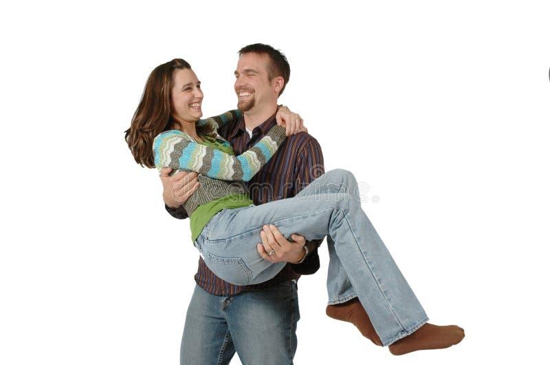 嬉戏的夫妇 库存图片