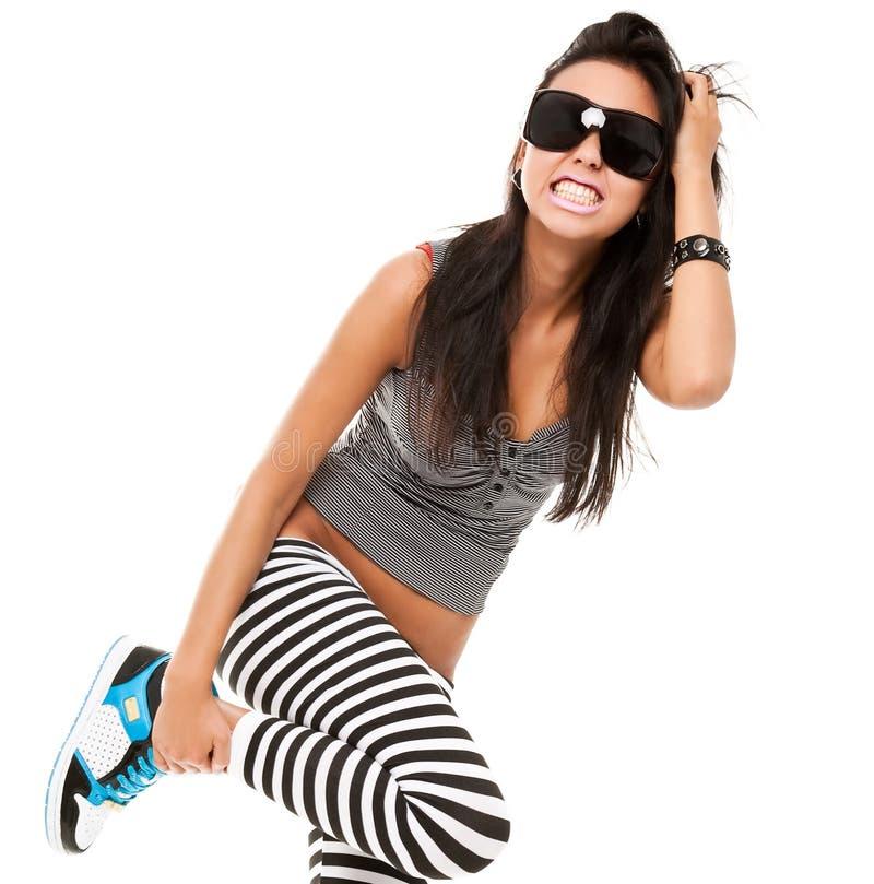 嬉戏的妇女年轻人 免版税库存照片