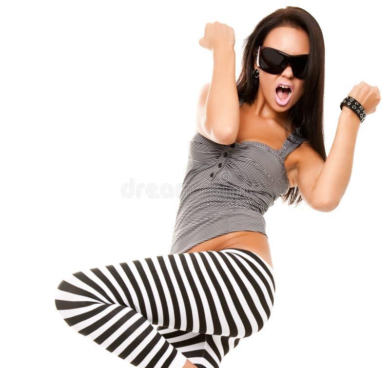 嬉戏的妇女年轻人 免版税库存图片
