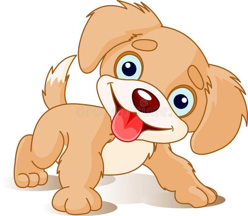嬉戏的小狗 向量例证