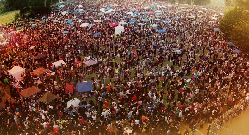 嬉皮小山在4 20 2015年 免版税库存照片