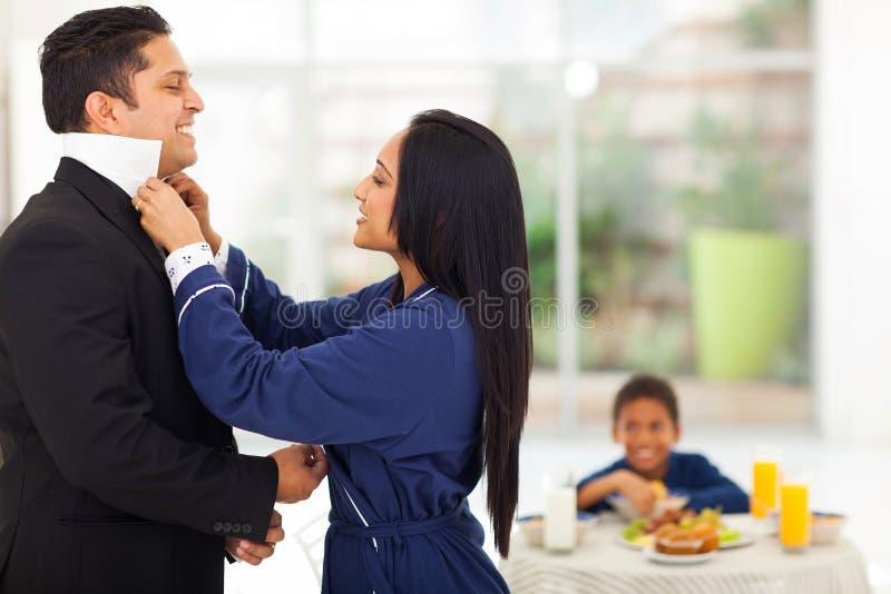 妻子丈夫礼服 库存照片