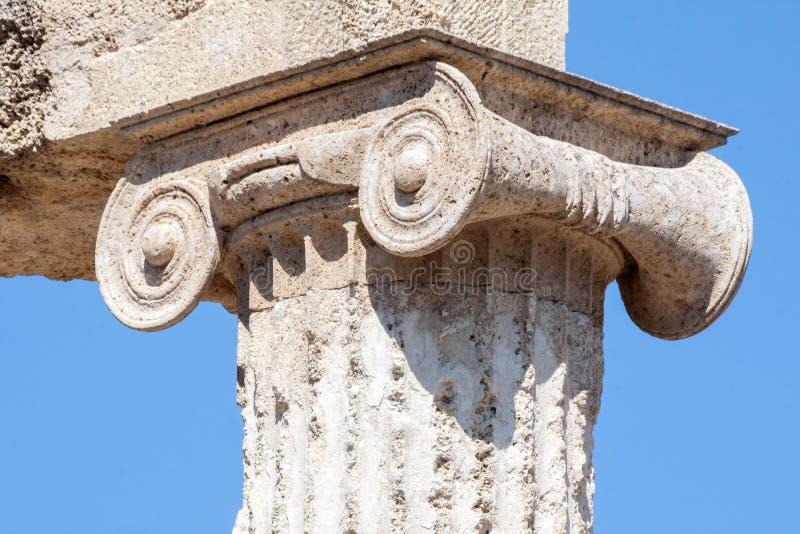离子专栏奥林匹亚希腊 库存图片