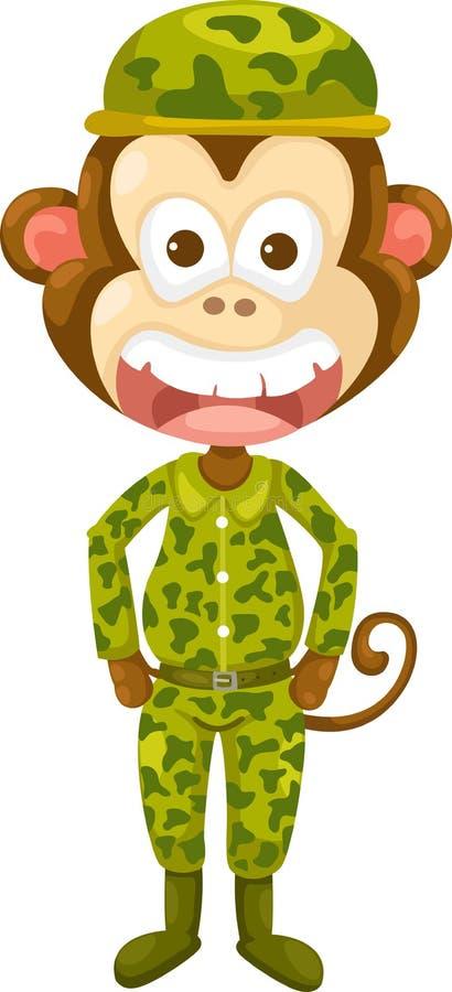 猴子军队 皇族释放例证