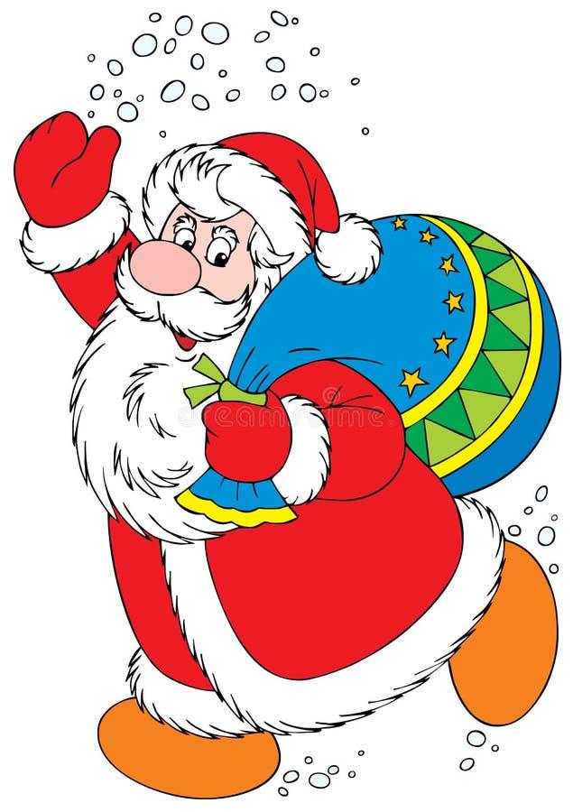 子句圣诞老人 库存例证