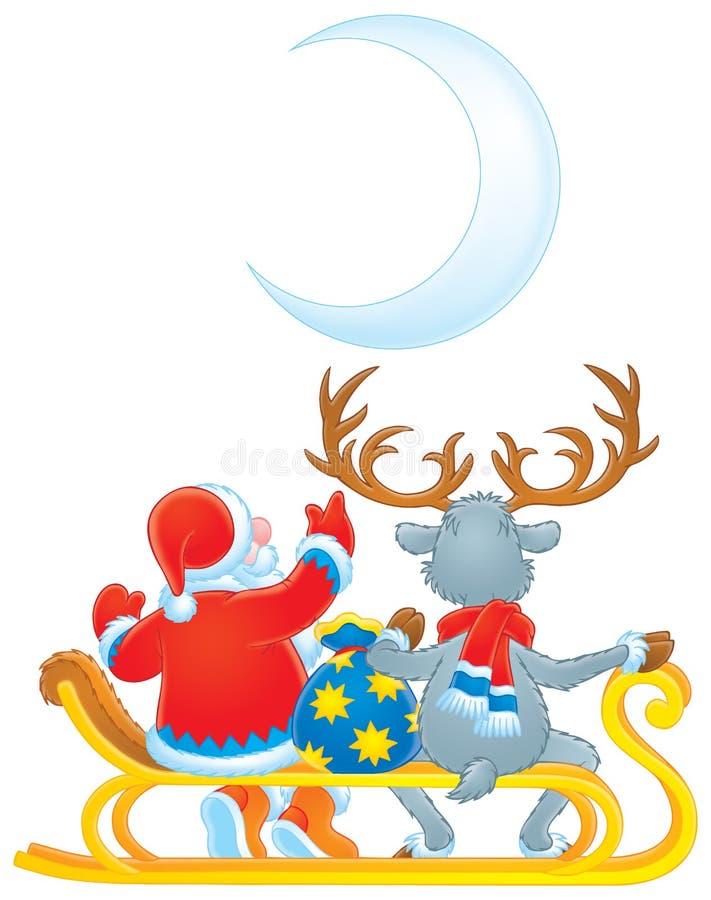子句驯鹿圣诞老人 皇族释放例证