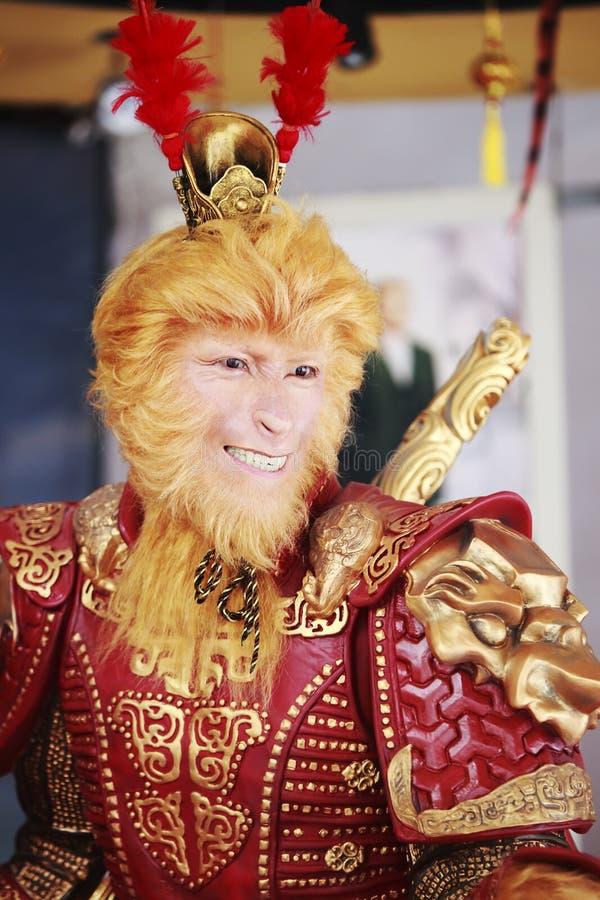 猴子国王雕象 库存照片