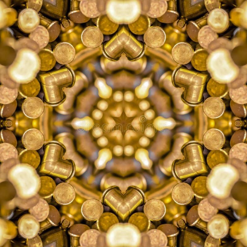 子弹做了成一个星状分数维球 库存图片