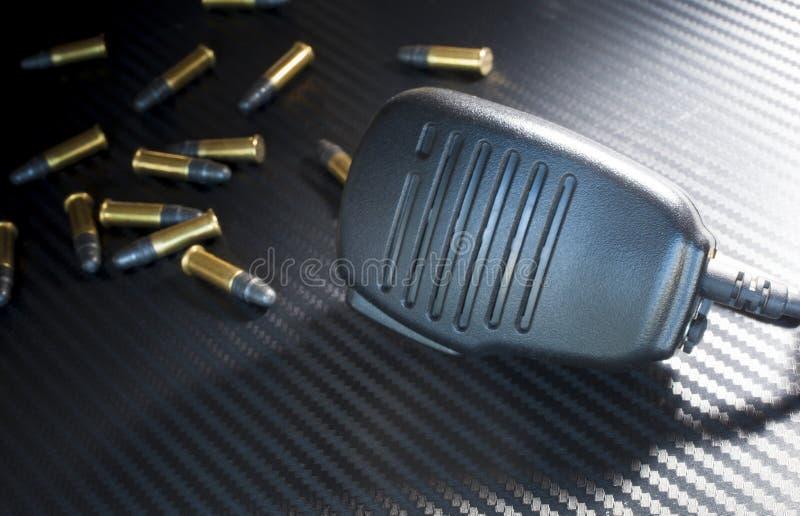 子弹和话筒 图库摄影
