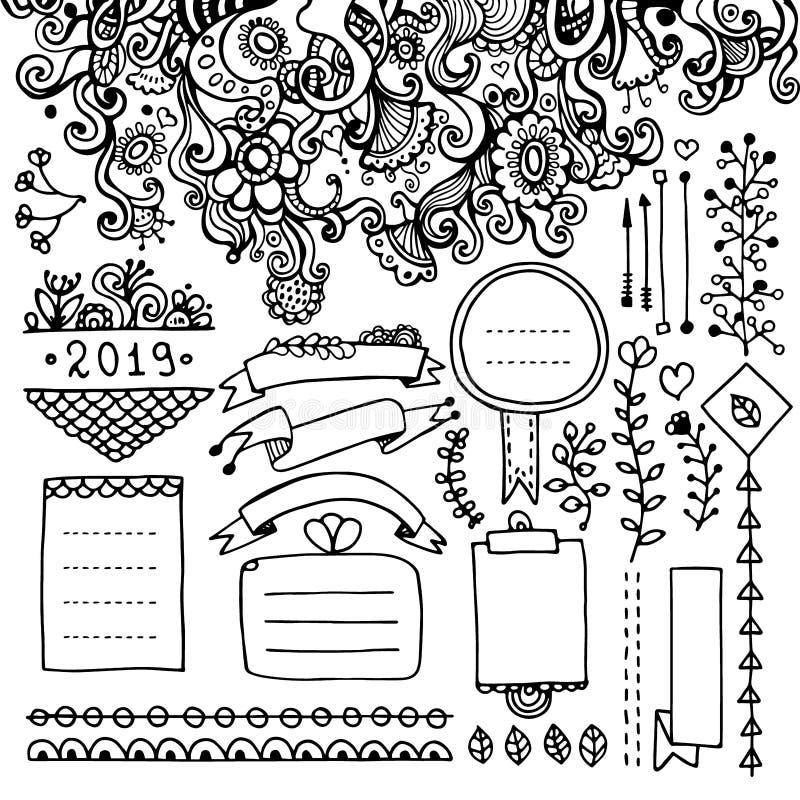 子弹学报的花卉元素 向量例证