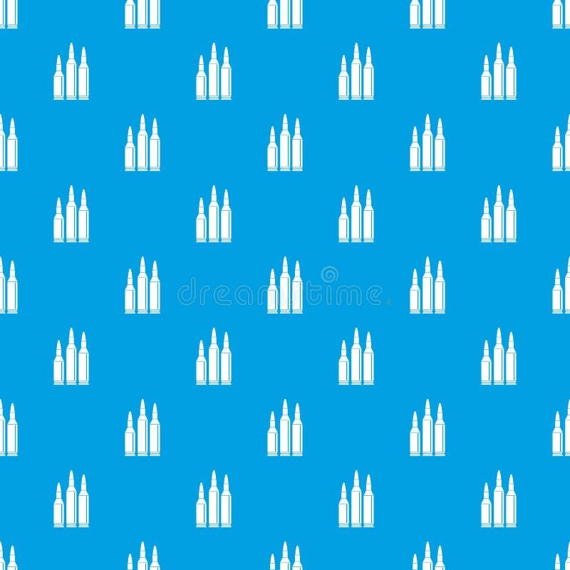 子弹弹药样式无缝的蓝色 皇族释放例证