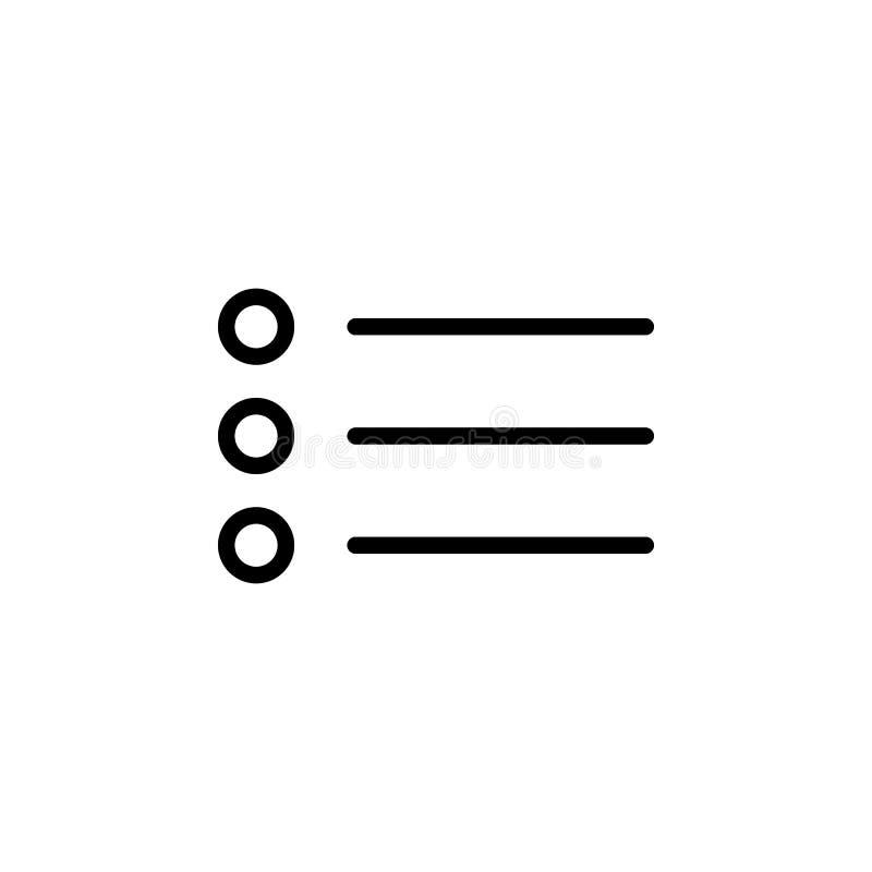 子弹文本象 能为网,商标,流动应用程序,UI,UX使用 向量例证