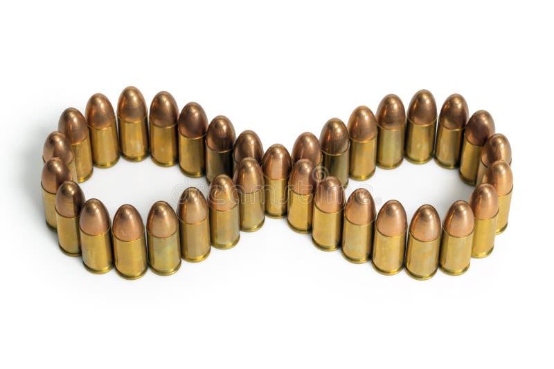 子弹无限标志 免版税图库摄影