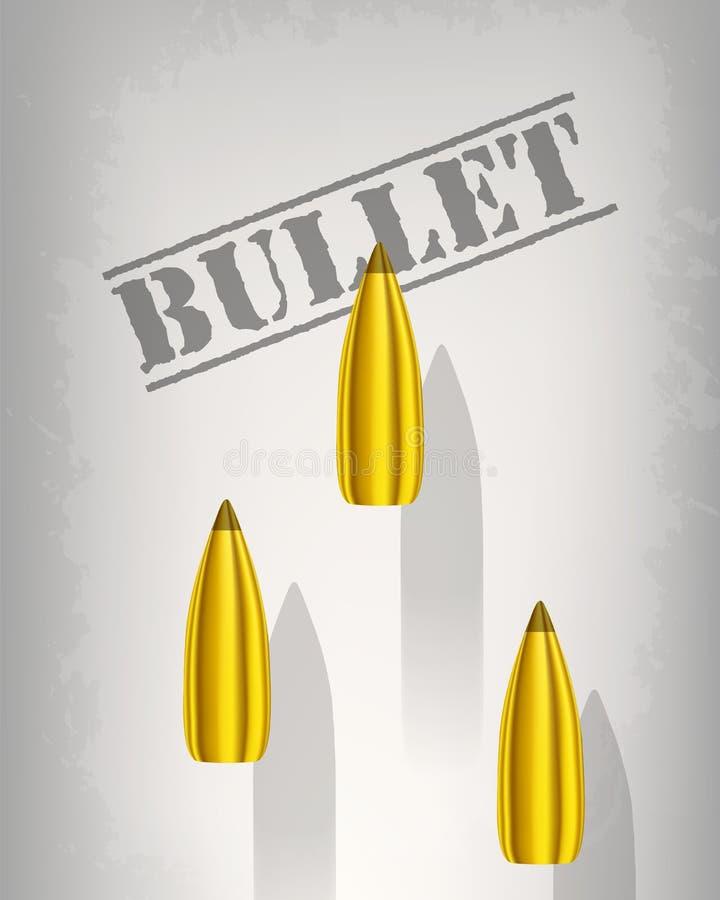 子弹背景概念 抽象背景设计例证马赛克 皇族释放例证