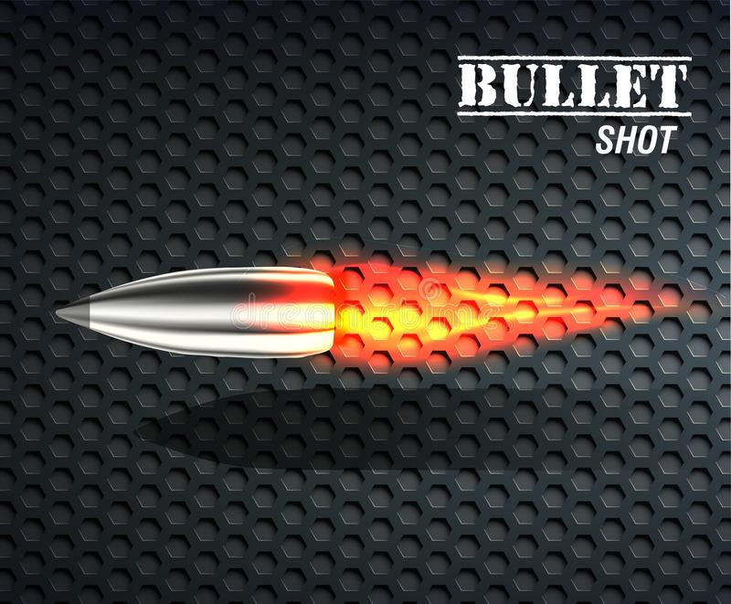 子弹背景概念 抽象背景设计例证马赛克 库存例证