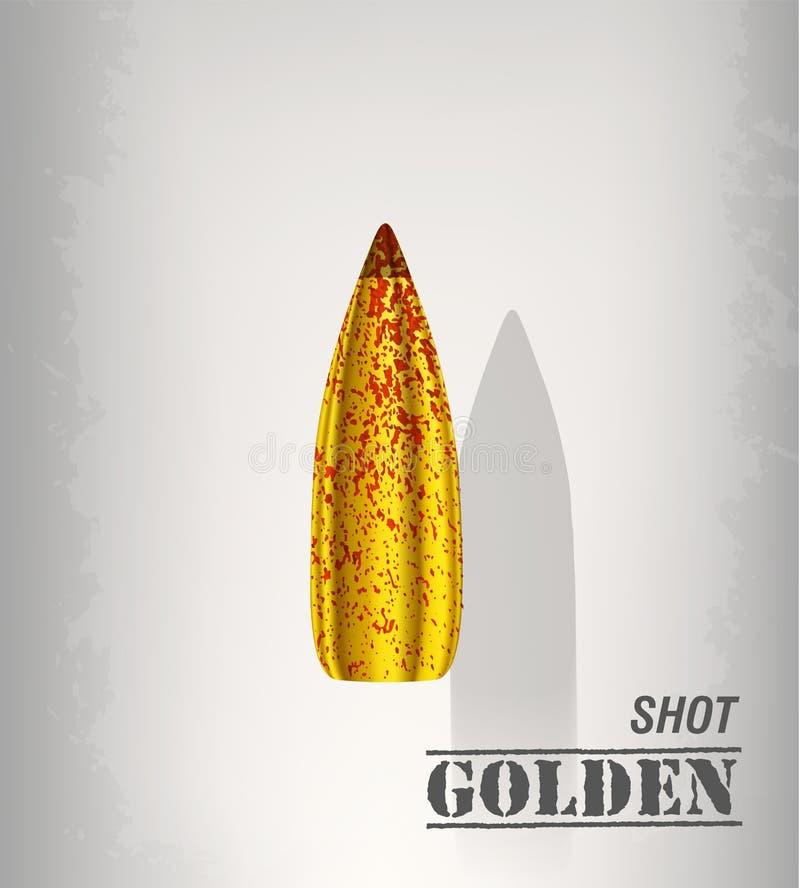 子弹背景概念 抽象背景设计例证马赛克 向量例证