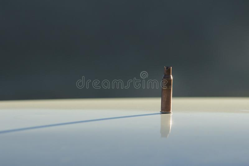 子弹袖子特写镜头 使用的袖子 图库摄影