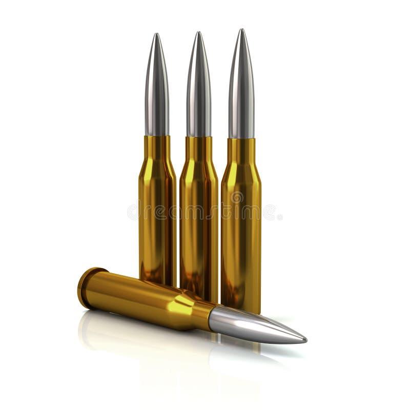 子弹3d例证 向量例证