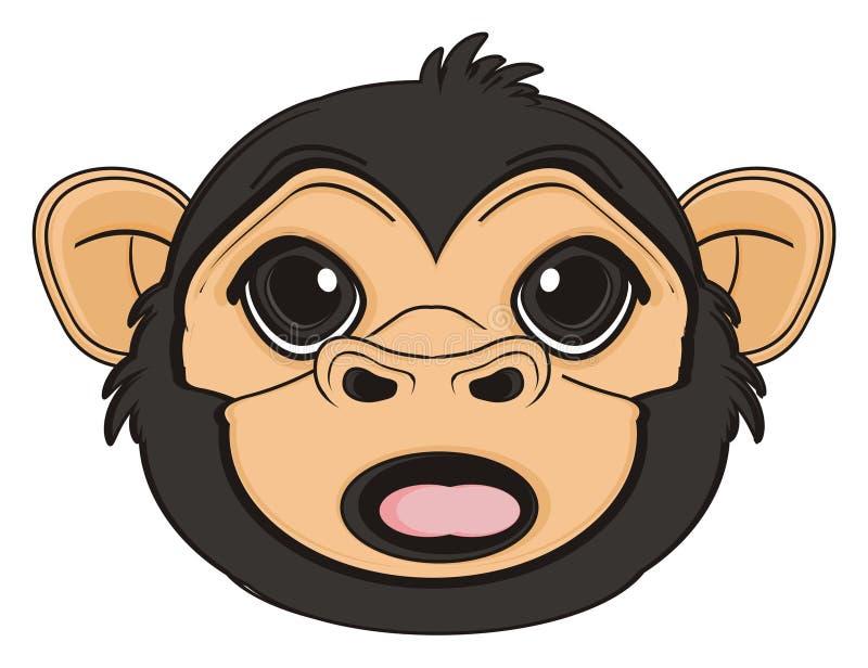 猴子惊奇头  向量例证