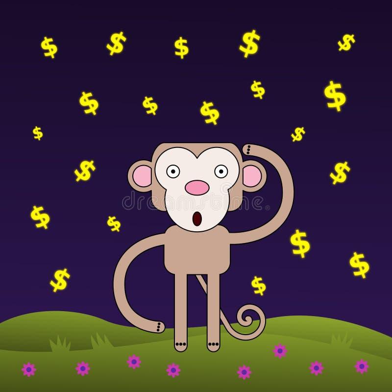 猴子想知道财富 皇族释放例证
