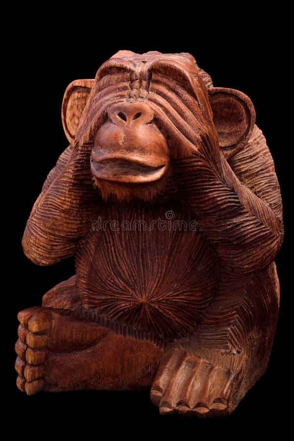 猴子的小雕象 免版税库存图片