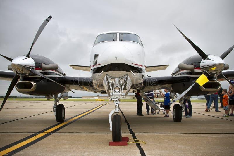 鼻子观点的Beechcraft Air国王 免版税图库摄影