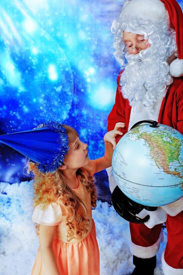 子项圣诞老人 库存照片