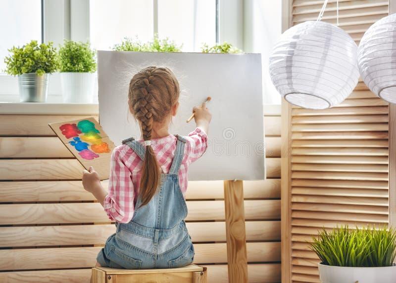子项画油漆 免版税库存图片