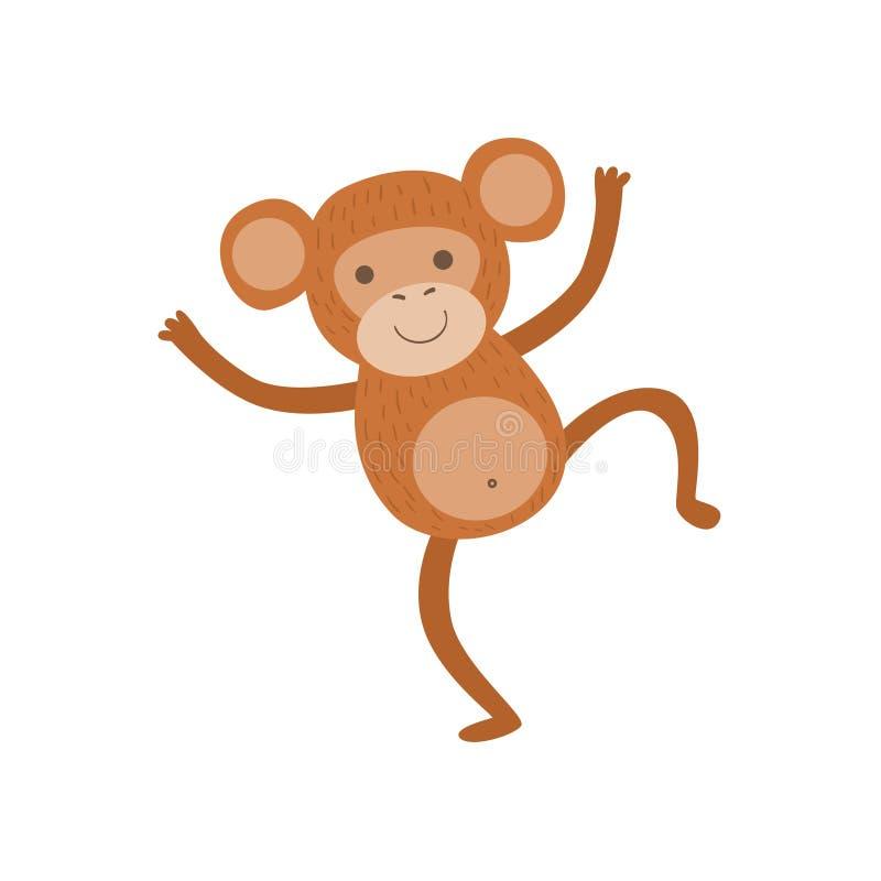 猴子风格化幼稚图画 皇族释放例证