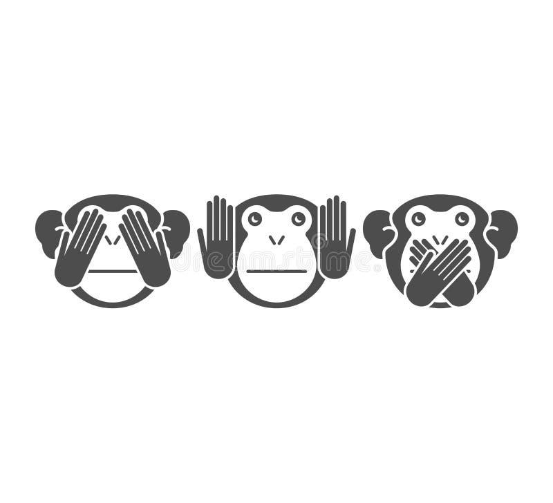 猴子 向量背景 向量例证