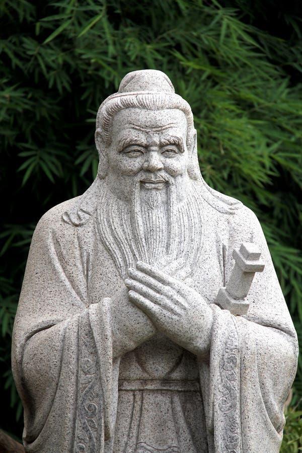 孔子中国雕象  库存照片