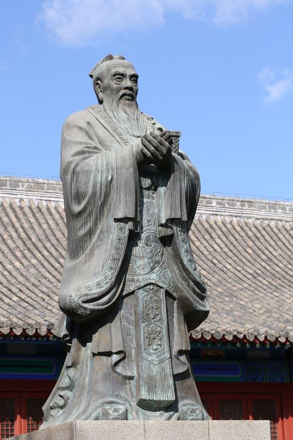 孔子瓷圣徒孔子祖先寺庙 库存图片