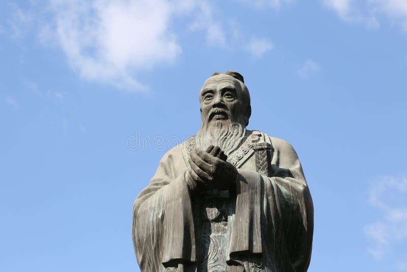 孔子瓷圣徒孔子祖先寺庙 免版税库存照片