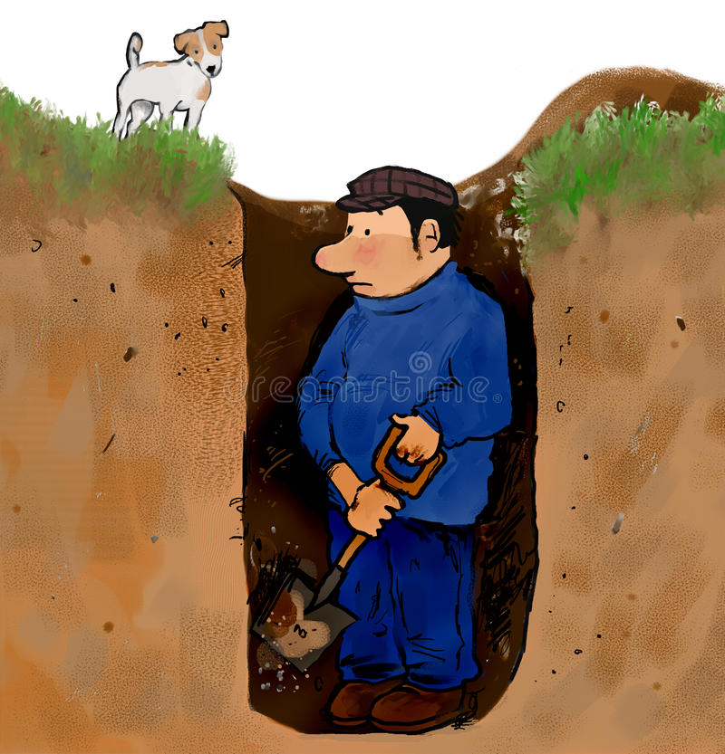 孔挖掘者 向量例证