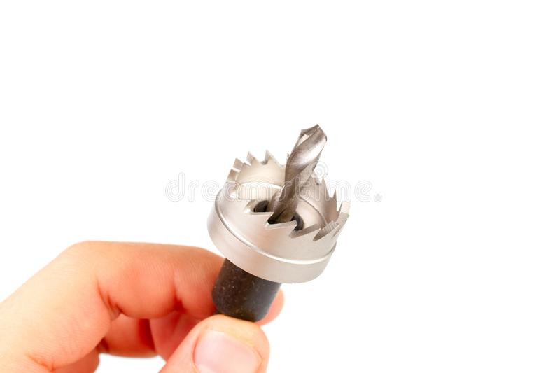 孔看见了或孔切削刀工具 免版税库存图片