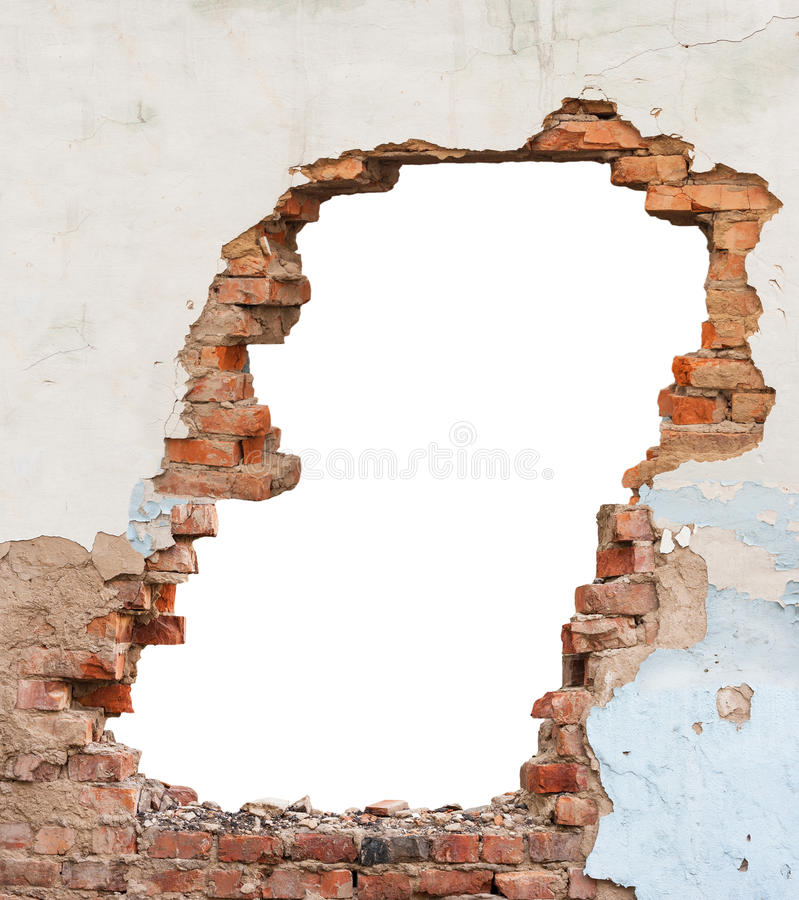 孔砖墙 库存照片