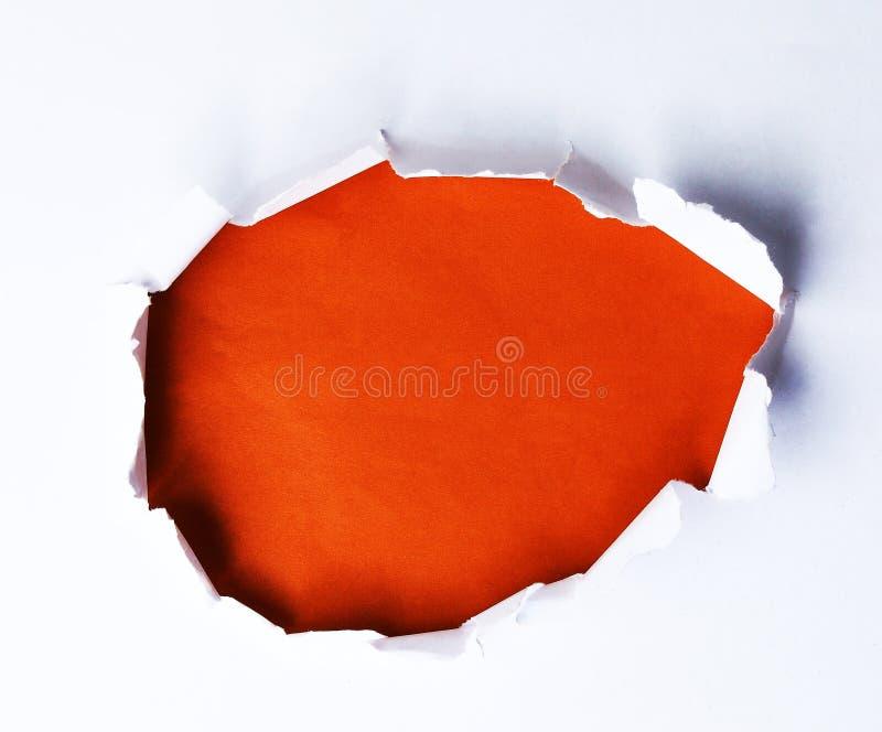 钻孔纸张 免版税库存照片