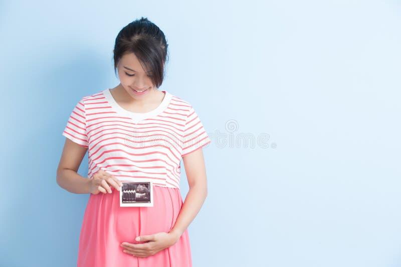 孕妇作为超声波 图库摄影