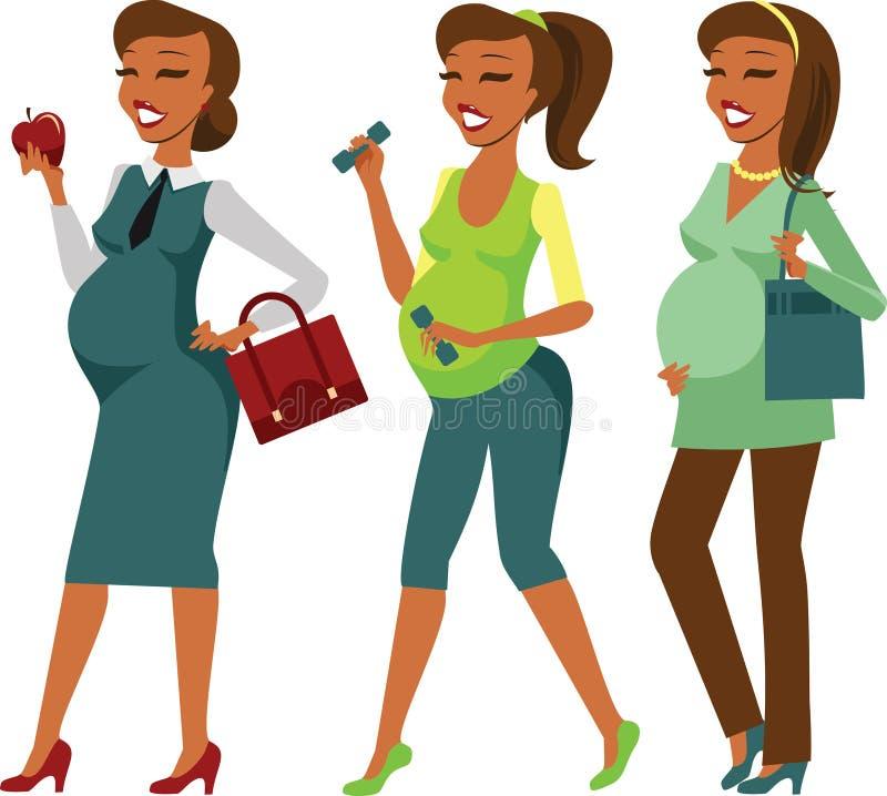 孕妇生活方式 皇族释放例证
