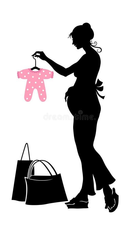 孕妇 库存例证